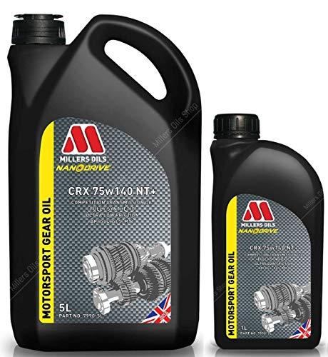 Millers Oils CRX 75w140 NT+ - Olio di Trasmissione Completamente Sintetico, 6 Lit