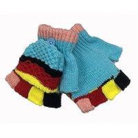 Guantes sin dedos, mitones de punto medio para niños, protegen sus manos del frío y la rigidez.