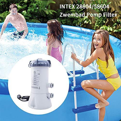 HELLOO HOME Pompe De Filtration pour Piscine, Filtre Épurateur À Cartouche, 530 GPH, 530 litres, Kit De Nettoyage pour Piscine D'été