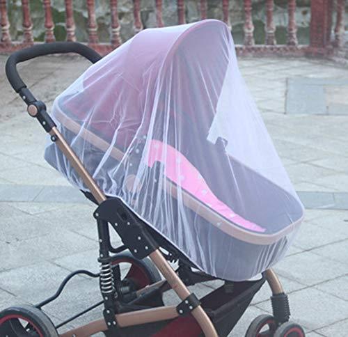 Dinglong Kinderwagen-Moskitonetz,Schützen Sie das Baby vor allen Arten von Insekten,Mehrere Farben erhältlich (Weiß)