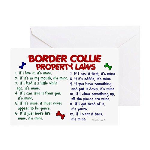 CafePress–Border Collie Sachenrecht 2–Grußkarte, Notenkarte, Geburtstagskarte, innen blank, glänzend -