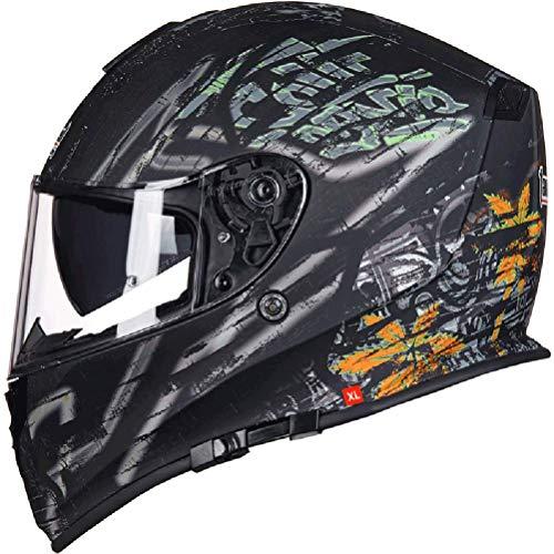 Unisex Erwachsene Tank Motorrad Helm Off-Road Antifogging Doppel Objektiv Integralhelme Für Alle Jahreszeiten XXXL 64 cm