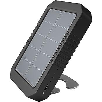 dodocool Caricabatterie Solare Portatile 4200 mAh Power Bank Pacco Batteria Esterna con Torcia a 4 LED per iPhone SE / 6s / 6 / 6 Plus Black Dispositivo di USB 5V Carica Nero