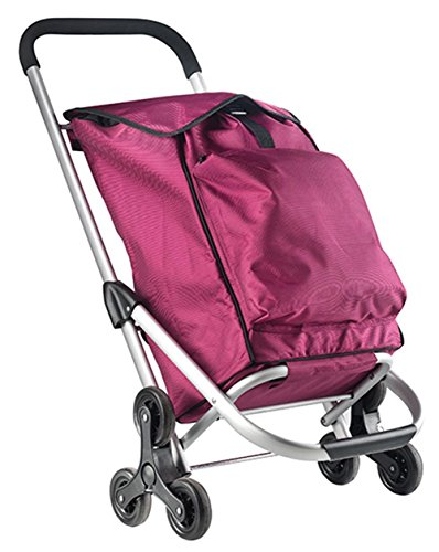New Shopping Trolley Shopper Shopping Trolley with Folding Seat Black or Pink (30 Litre) Pink