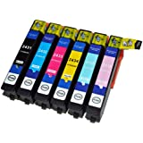 Compatible Ink Cartridges replacement for Epson Expression Photo XP750, XP850, 24XL (6 ink)