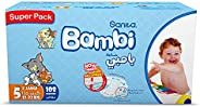 سانيتا بامبي حفاضات اطفال , حجم 5, اكس لارج, 12-22 كغ, 108 حبة