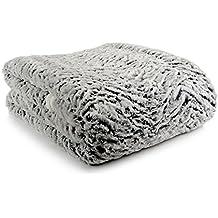 Goldmond Home 4001626020683 - Colcha reversible, aspecto de pelo de animal, 150 x 200 cm, color gris