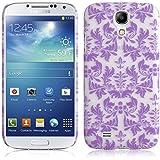 JAMMYLIZARD | Damast- Motiv Back Cover Hülle für Samsung Galaxy S4, LILA