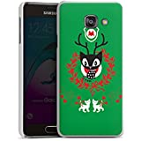 Samsung Galaxy A3 (2016) Housse Étui Protection Coque Chat Noël Vert