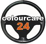 mycolourcare - Kit ritocco vernice Volante in Pelle eco-pelle similpelle per interni - ripristina colore sterzo tonalità Nero generico opaco satinato da 30 ml, fai da te - semplice applicazione - alternativa al copri volante