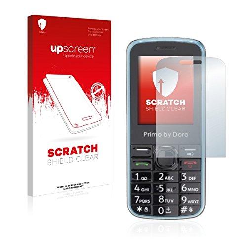 upscreen Scratch Shield Clear Bildschirmschutz Schutzfolie für Doro Primo 305 (hochtransparent, hoher Kratzschutz)