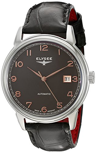ELYSEE Made in Germany Vintage Master 80546 40mm Automatic Stainless Steel Case Grey Calfskin Synthetic Sapphire Men's Watch