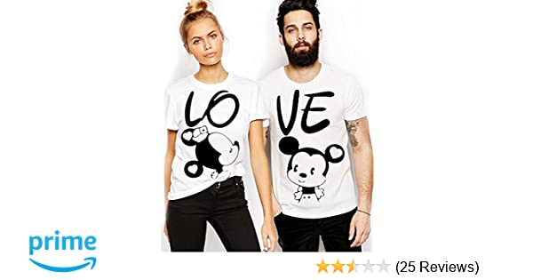 4e20becb8b ADYK Unisex Cotton Couple T-Shirt - Pack of 2: Amazon.in: Clothing &  Accessories