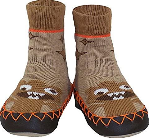 Konfetti Space Alien Kids Swedish Moccasins House Slippers Shoes - Boys Slipper Socks - Home Footwear for Toddlers, Pre-Schoolers and Children
