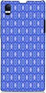 Snoogg Blue Flourish Pattern Designer Protective Back Case Cover For Sony Xpe...