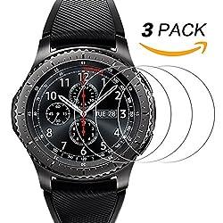Samsung Gear S3Displayschutzfolie [3Pack], Ucmda Gehärtetem Glas Displayschutzfolie Für Samsung Gear S3Frontier Und Classic Smartwatch [9h Härte] Kratzfest Film