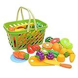 Spielhaus Küche Spielzeug Schneiden Von Obst Und Gemüse Pretend Toys Früherzieherpuzzle Kinderspielzeug 19 Stück Mit Korb