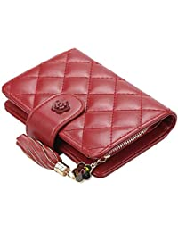 Mac Lawrence PU Leather Wallet/Clutch/Purse for Women's (Black & Red)