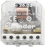 Finder 260380120000PAS Stromstoßschalter für Montage in Unterputzdose, 12VAC 1 NO + 1 NC 10 A