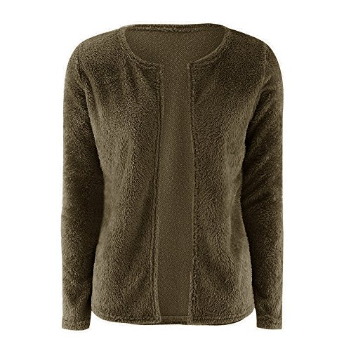 Donna Autunno Maglioni Cappotto Manica lunga Di Colore Solido Cardigan Sweater Maglieria Cappotti Giacche Tops Verde