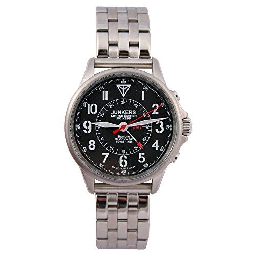 Junkers Reloj de pulsera Limited Edition Berlin bloqueo 1948–49con banda de acero inoxidable