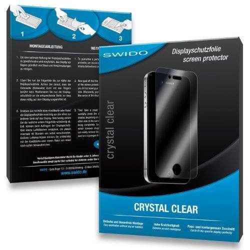 SWIDO Y021684 kristallklar hartbeschichtet Displayschutzfolie für Rollei Powerflex 210HD/210-HD (2-er Pack)