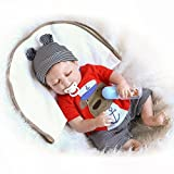 57cm Seltene lebendige Silikon-Vinyl-Ganzkörper-waschbare Neugeborene schlafende Baby-Puppen