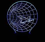 Elegante Tischleuchte Kleine Nachtlichter Time Shuttle Bunte USB Touch Fernbedienung Schalter 3D Lampe Optische Täuschung Tischlampe Dekoration Geburtstag Umweltschutz Schreibtischl