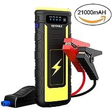 VETOMILE Arrancador de Coche 21000mAh 800A,Jump Starter para Coches, Motos etc, Arranque