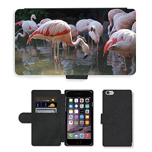 Just Mobile pour Hot Style Téléphone portable étui portefeuille en cuir PU avec fente pour carte//m00139709flamande Zoo animaux//Apple iPhone 6Plus sans 14cm