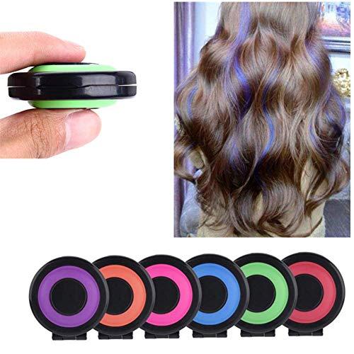 Set di tinture per capelli veloci portatili riutilizzabili, regali per feste di compleanno di compleanno di compleanno di tinture per capelli in gesso a colori brillanti temporanei