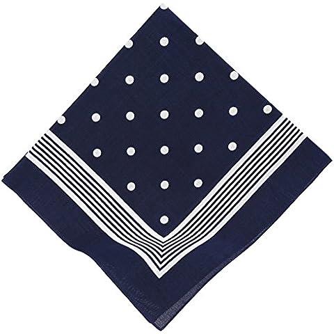 Pañuelo bandana para el cuello con el motivo de punto clasico 55 x 55 cm en los colores rojo, azul marino y negro