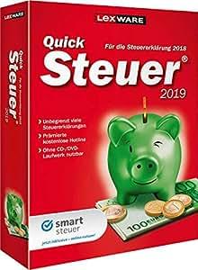Lexware QuickSteuer 2019 Minibox Einfache und schnelle Steuererklärungs-Software für Arbeitnehmer, Familien, Vermieter, Studenten und Rentner Kompatibel mit Windows 7 oder aktueller