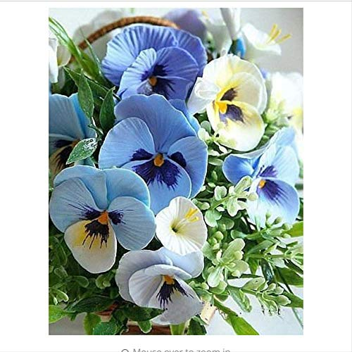 JHSM Diamantmalerei Diamond Painting Schönes Bild Motiv Schön Spaß Geschenk Steinekreuzstich Blue Butterfly Orchid Crystal Voller Diamanten 12 X 16 Zoll