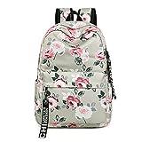 Mode Frauen Blume Druck Schule Rucksack Für Teenager Mädchen College Laptop Reisetasche Rucksack Bookbag Blue