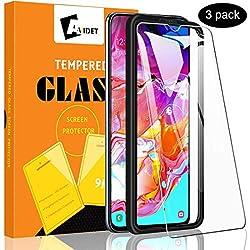 A-VIDET 3 Stück Panzerglas Schutzfolie für Samsung Galaxy A70 Vollschutz-mit Ultra-Stärke Ultra-klare Transparenz Panzerglas Displayfolie für Samsung Galaxy A70