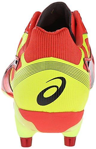 Asics Mens Gel-Lethal Speed Rugby Shoe Deep Orange/Black/Flash Yellow