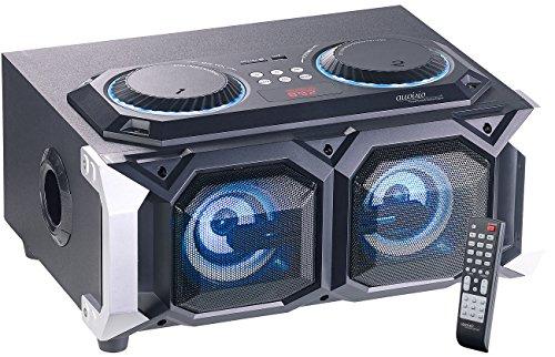 auvisio Karaoke Anlage: 2.1-Stereo-Partyanlage, Bluetooth mit Karaoke-Funktion, 100 W, USB, SD (Party Anlagen) - 100w Spa