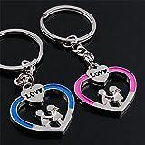 ryadia (TM) 1Paire Couple Anneau porte-clés Hot Vendre Love Heart Porte-clés Porte-clés romantique Collectionneurs # EE