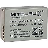 Mitsuru® batterie de remplacement pour Canon PowerShot G15 / G1X / SX40 HS / SX50 HS compatible avec NB-10L NB10L