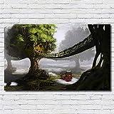 zxddzl Ojo Abstracto Moderno Guepardo con Gente Feroz dragón león Animal Pintura al óleo Sala Artista residencia decoración 3 50 * 90