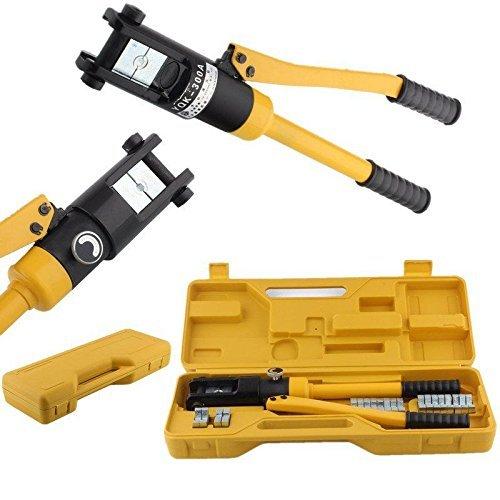 FIXKIT Crimpadora Hidráulica Herramienta Prensa para Cables Alicate 10 -300 mm² Presión de Crimpado 16 T con Estuche