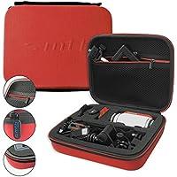 mtb more energy® Schutztasche XL für Garmin Virb Elite, X, XE / Contour Roam 3 / Ghost-S / TomTom Bandit uvm... - Rot - Koffer Case Stecksystem Modular