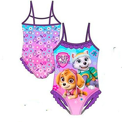 Paw Patrol Puppies Badeanzug, Violett (Violet 18-3533 TC), 5-6 Jahre ()