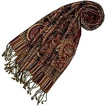 Lorenzo Cana Echarpe de 100% laine pour la femme – foulard paisley fleuri -  35 f8125ce2168