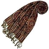 Lorenzo Cana - High End Luxus Schal aus weicher Wolle aufwändiges Paisley Muster bunt mehrfarbig 35 x 160 cm Wollschal Wolltuch Damenschal Damen 78402