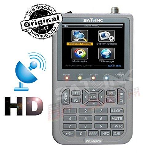 SATLINK WS-6926 HD Satelliten Meter Professionelle Satfinder, Grau