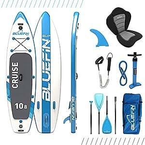 Bluefin Pacchetto per Cruise SUP | Tavola Gonfiabile da Stand Up Paddle | Pagaia in Vetroresina | Kit per Conversione Kayak | Tutti Gli Accessori | Dimensioni Multiple: 10'8, 12', 15'