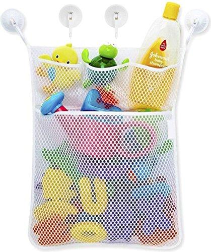 iLoveCos Organizers for Bathroom Baby Bath Bathtub Toy Holder Storage Net Mesh Bag Organizer with 4 Removable Suction Cups