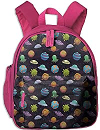 Teens Boys&GirlS Bookbag with Pocket Space UFOs and Fantastic Planets Gas Giant Alien Environments Science Fiction